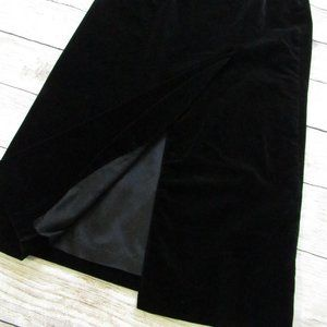 Laura Ashley Black Velvet Full Length Skirt